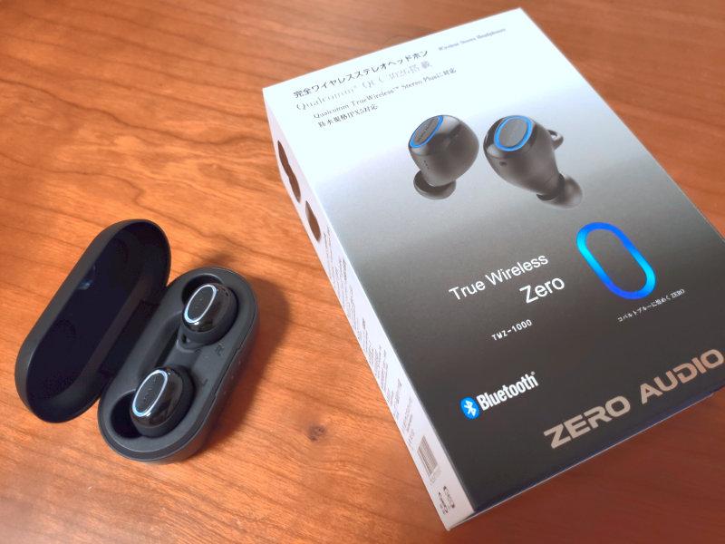 True Wireless Zeroのパッケージと本体